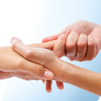 Detail of curative hand massage.